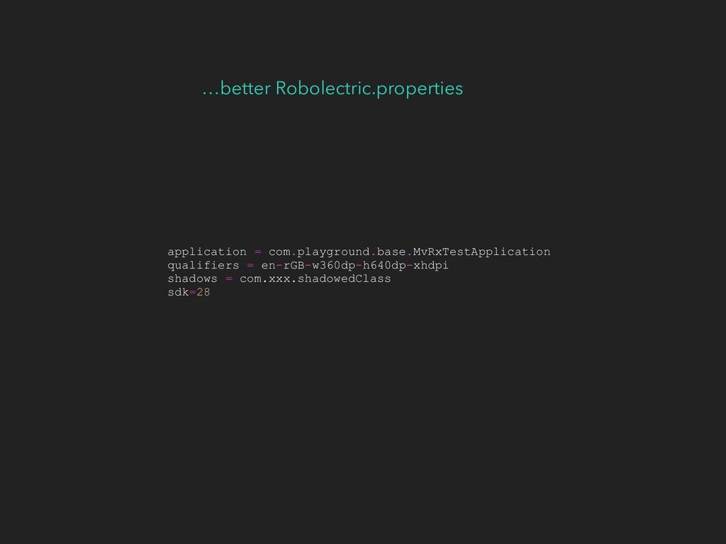…better Robolectric.properties application = co...