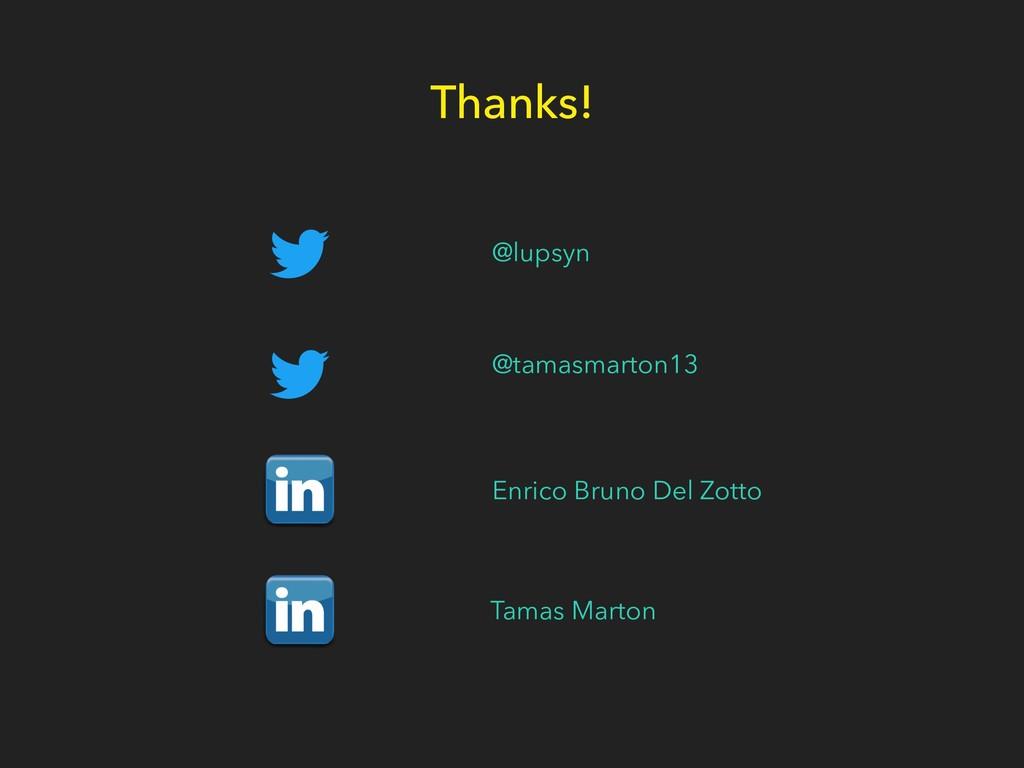 Thanks! @lupsyn @tamasmarton13 Enrico Bruno Del...