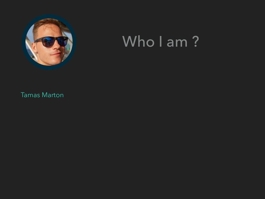 Who I am ? Tamas Marton