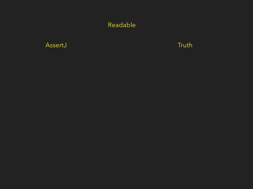 Readable AssertJ Truth