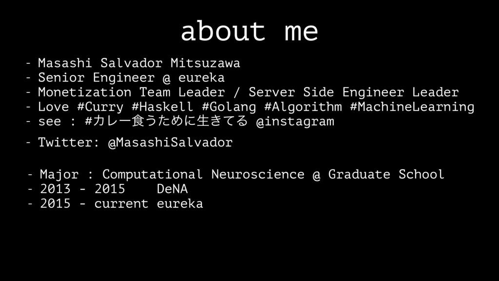 about me - Masashi Salvador Mitsuzawa - Senior ...