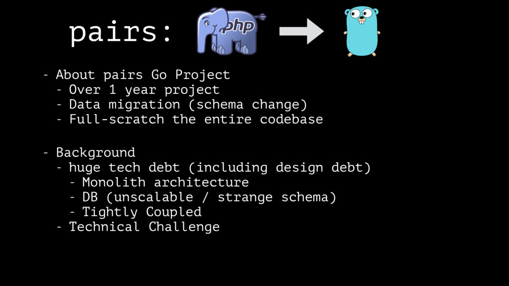 pairs: - About pairs Go Project - Over 1 year p...
