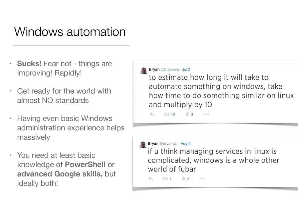 Windows automation • Sucks! Fear not - things a...