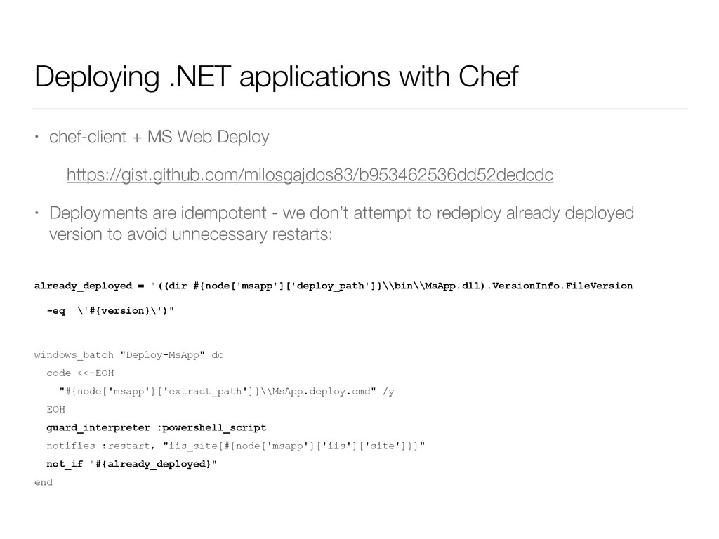 Deploying .NET applications with Chef • chef-cl...