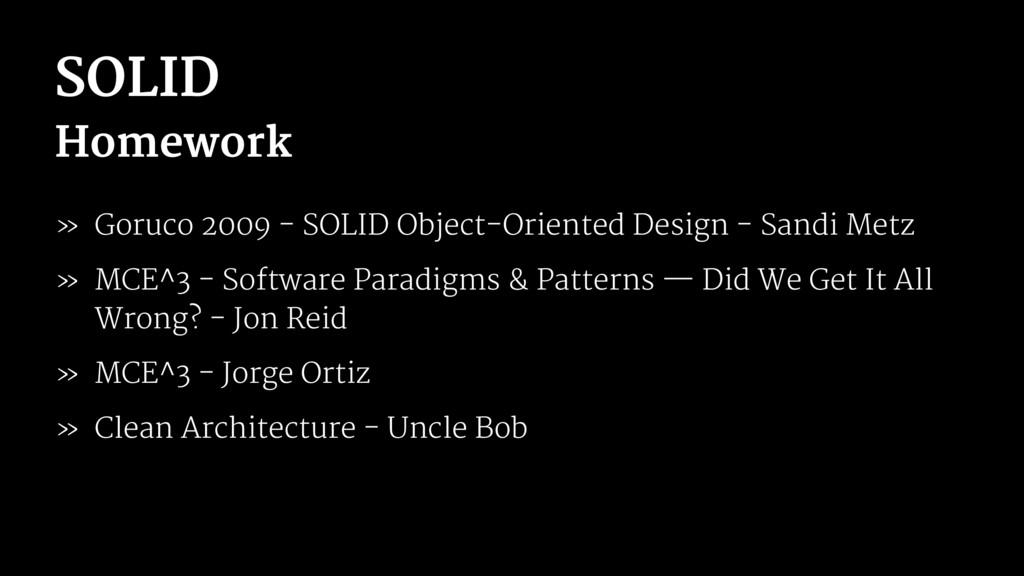 SOLID Homework » Goruco 2009 - SOLID Object-Ori...