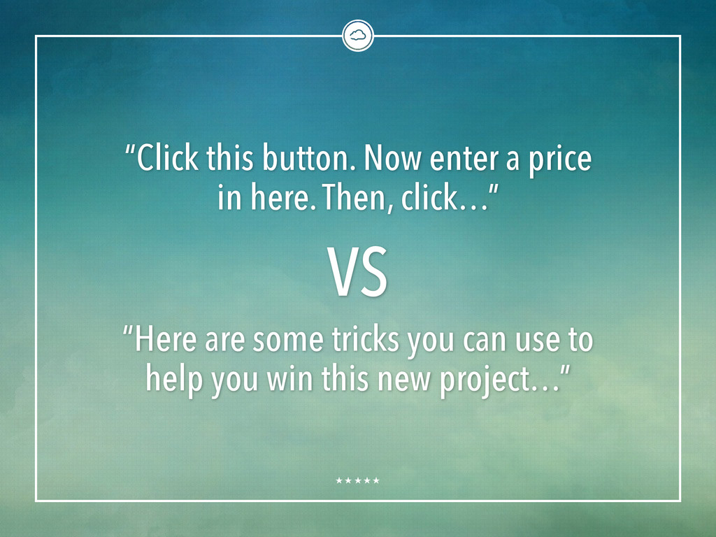 """""""Click this button. Now enter a price in here. ..."""