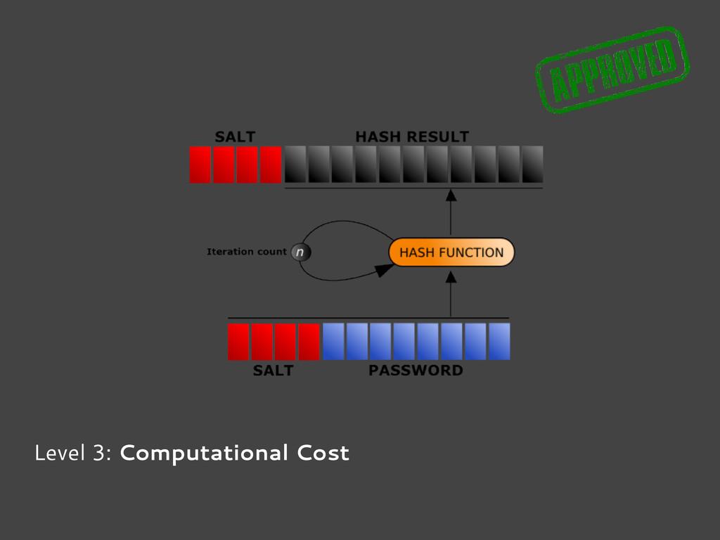 Level 3: Computational Cost