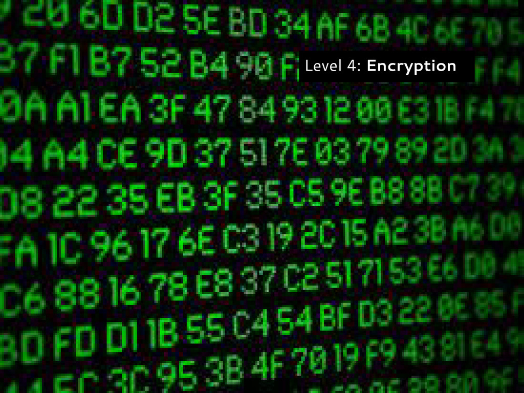Level 4: Encryption