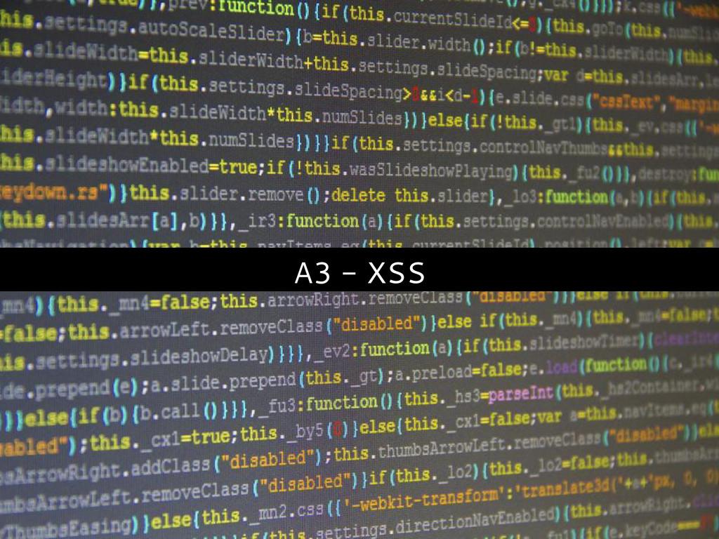 A3 - XSS