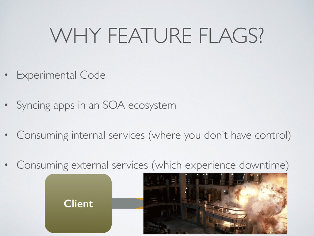 • Experimental Code  • Syncing apps in an SOA...