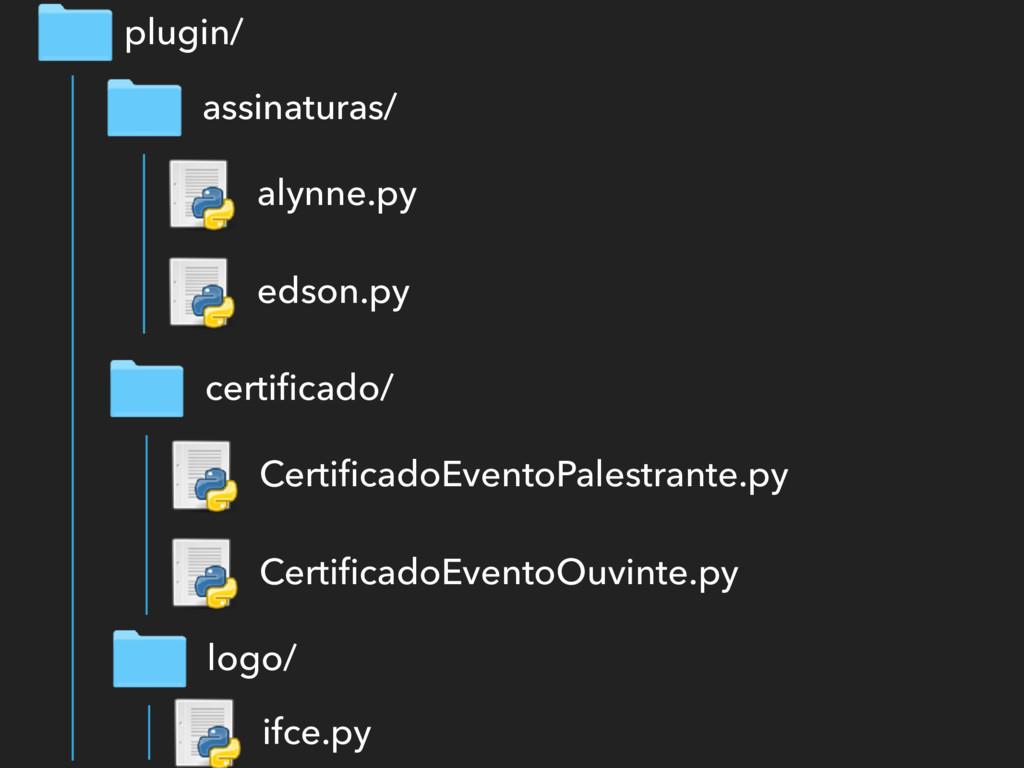 assinaturas/ plugin/ alynne.py edson.py certific...