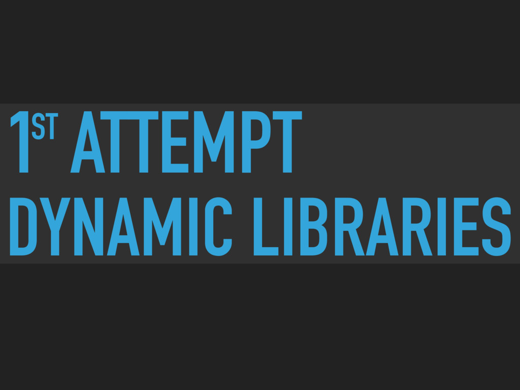 ST 1 ATTEMPT DYNAMIC LIBRARIES