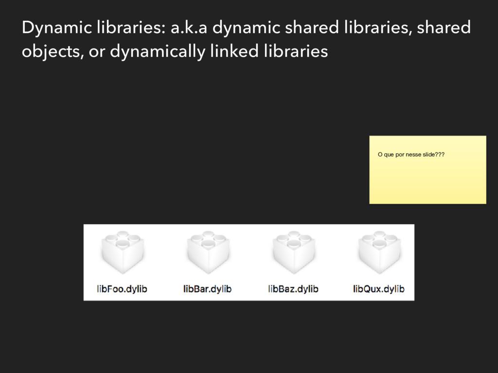 Dynamic libraries: a.k.a dynamic shared librari...
