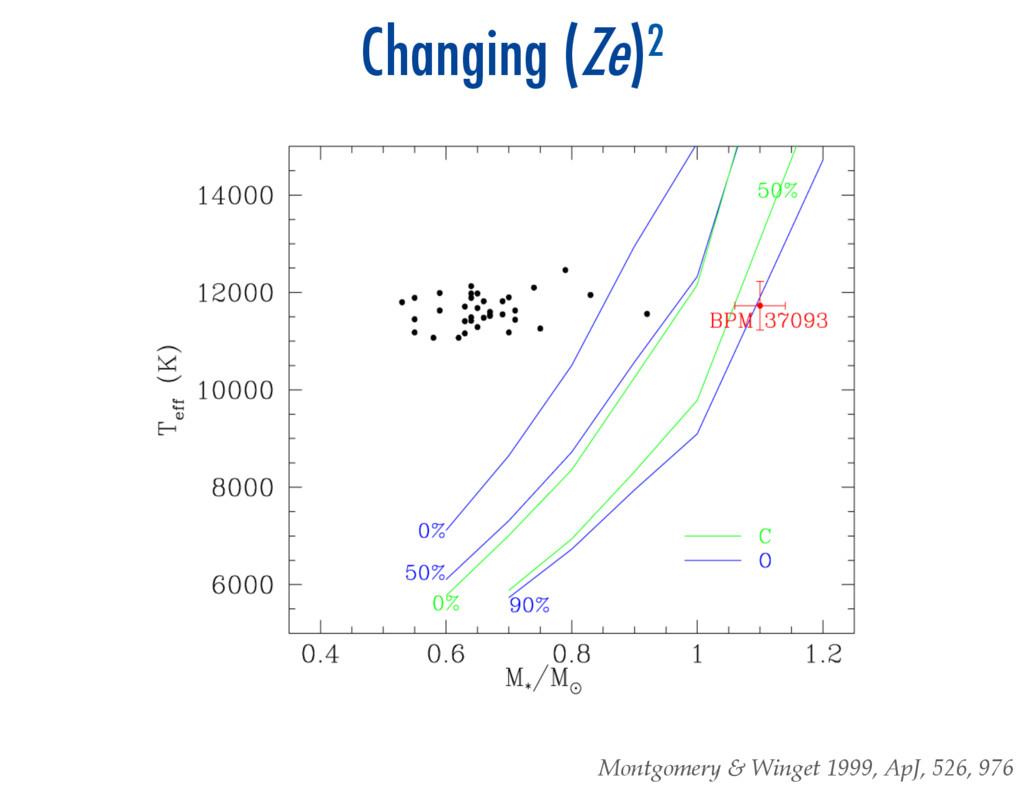 Changing (Ze)2 Montgomery & Winget 1999, Ap...