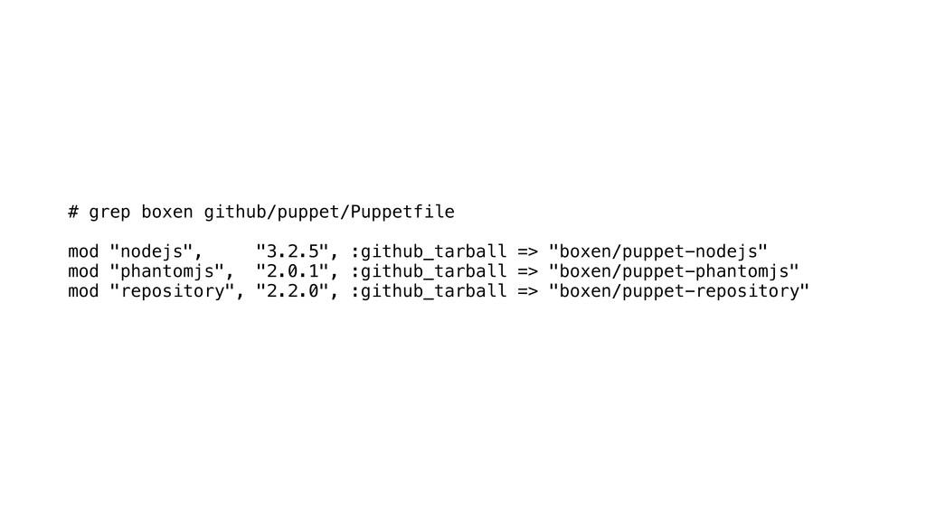 "# grep boxen github/puppet/Puppetfile mod ""node..."