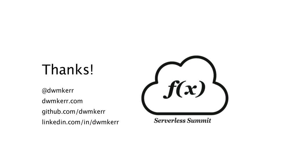 Thanks! @dwmkerr dwmkerr.com github.com/dwmkerr...