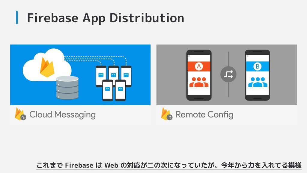 Firebase App Distribution これまで Firebase は Web の...