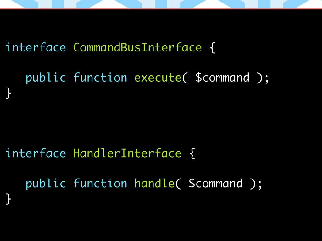 interface CommandBusInterface { ! public functi...