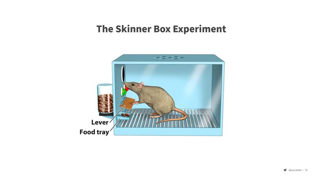 @bsonefeld • ,19 The Skinner Box Experiment