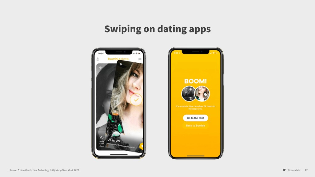 @bsonefeld • Swiping on dating apps ,22 Source:...