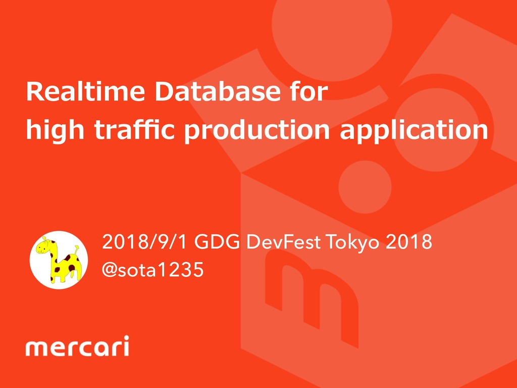 Realtime Database for high traffic production app...