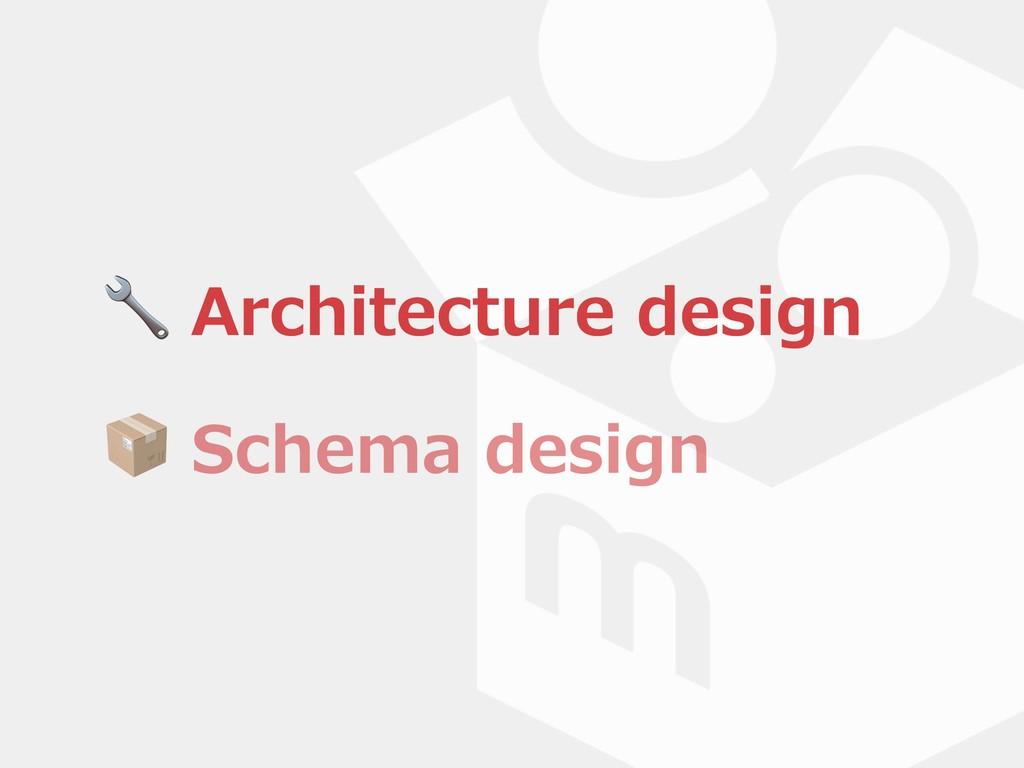 Architecture design  Architecture design  Sche...