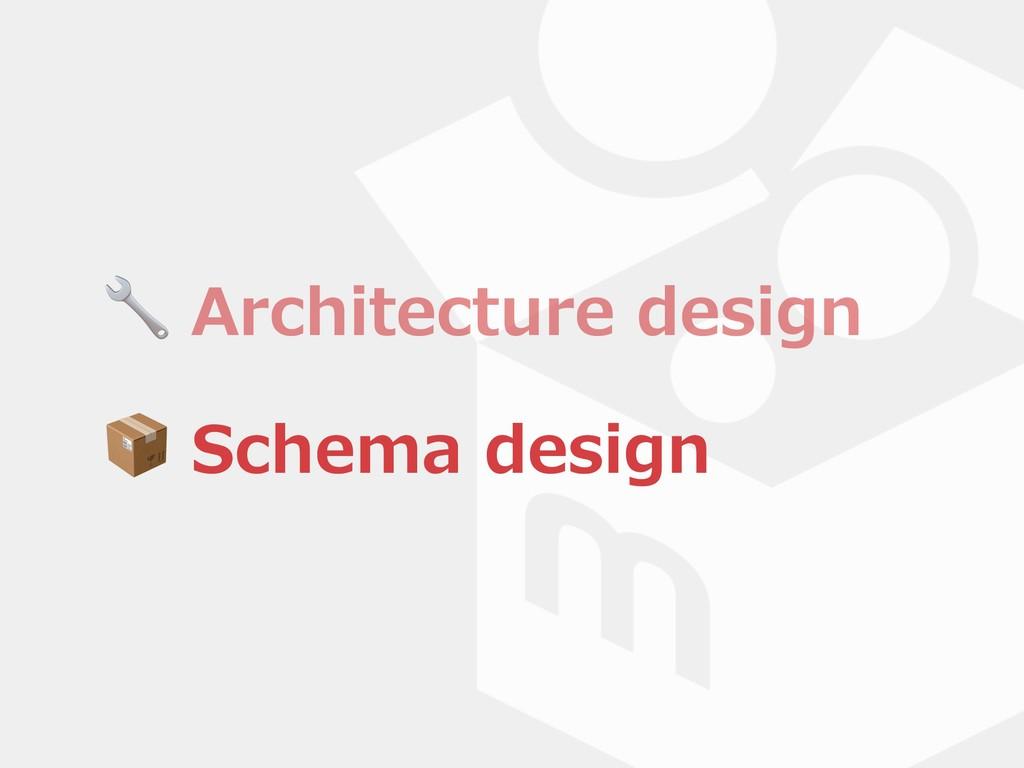Architecture design  Schema design  Schema des...