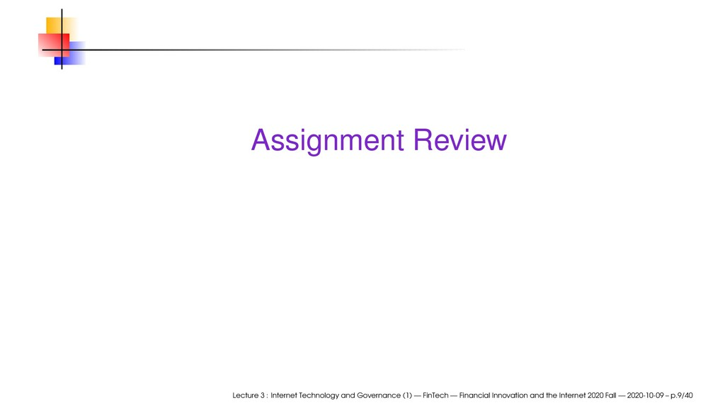 Assignment Review Lecture 3 : Internet Technolo...