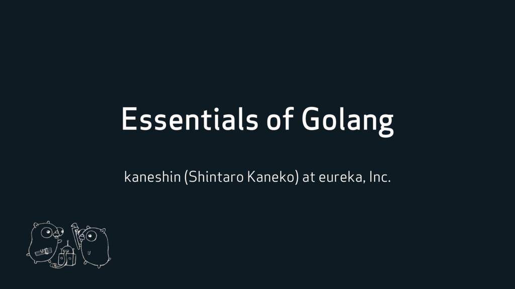 Essentials of Golang kaneshin (Shintaro Kaneko)...