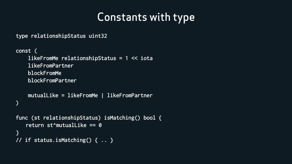 Constants with type type relationshipStatus uin...