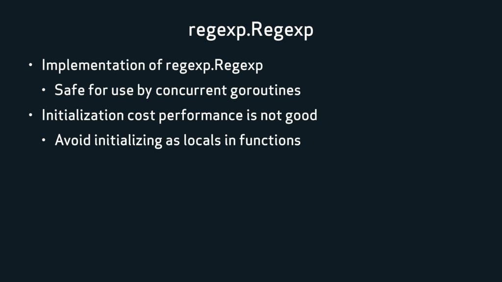 regexp.Regexp • Implementation of regexp.Regexp...