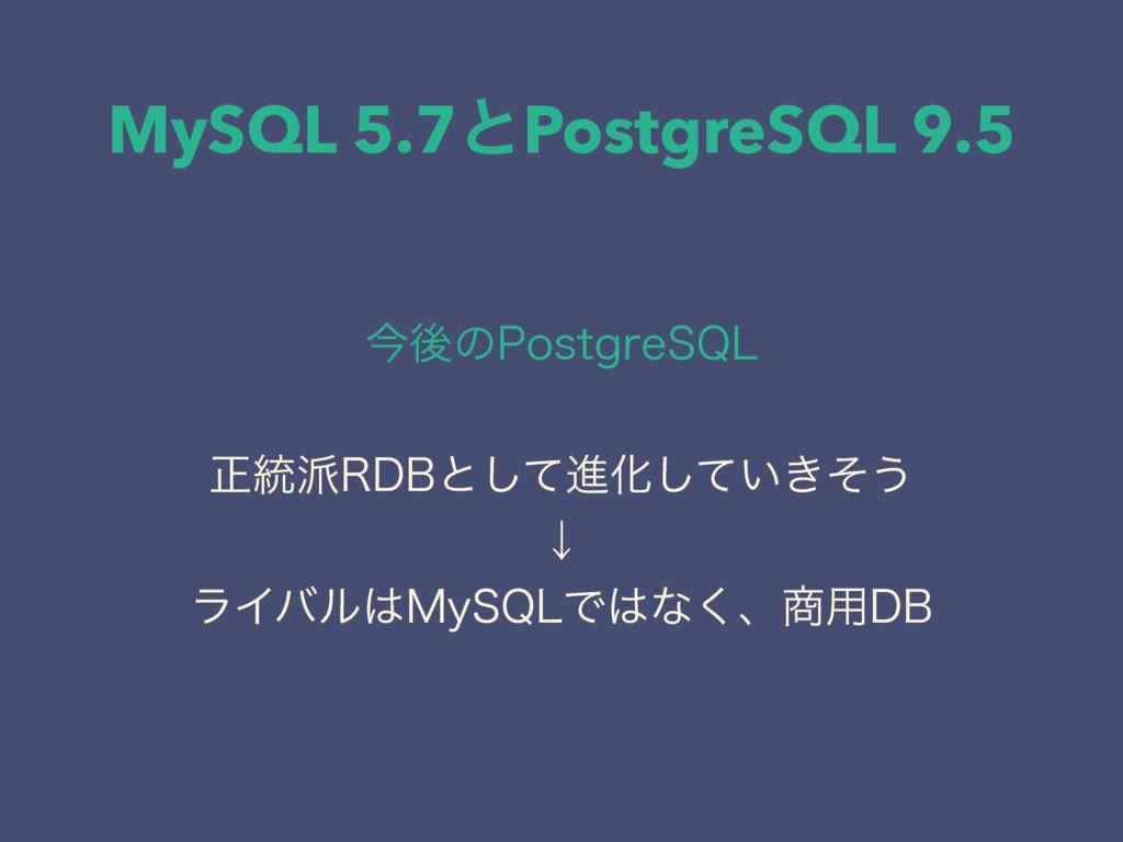 MySQL 5.7ͱPostgreSQL 9.5 ࠓޙͷ1PTUHSF42- ਖ਼౷3%#ͱ...