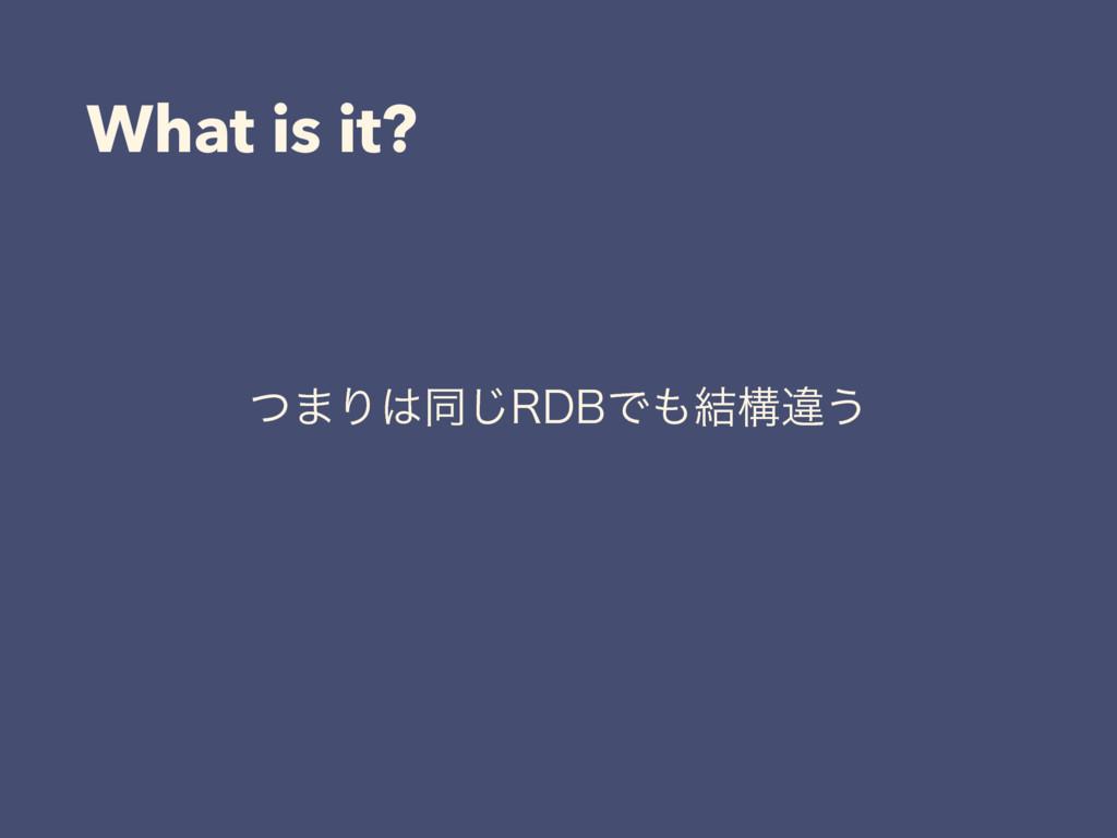 What is it? ͭ·Γಉ͡3%#Ͱ݁ߏҧ͏