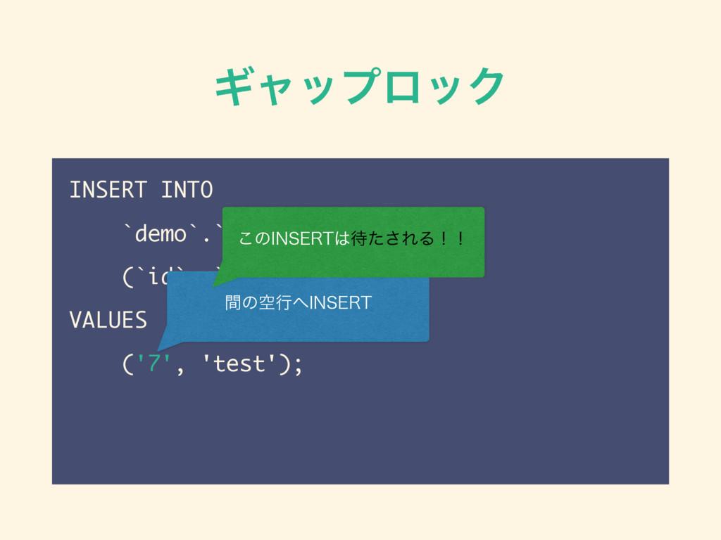 ΪϟοϓϩοΫ INSERT INTO `demo`.`lock_demo` (`id`, `...