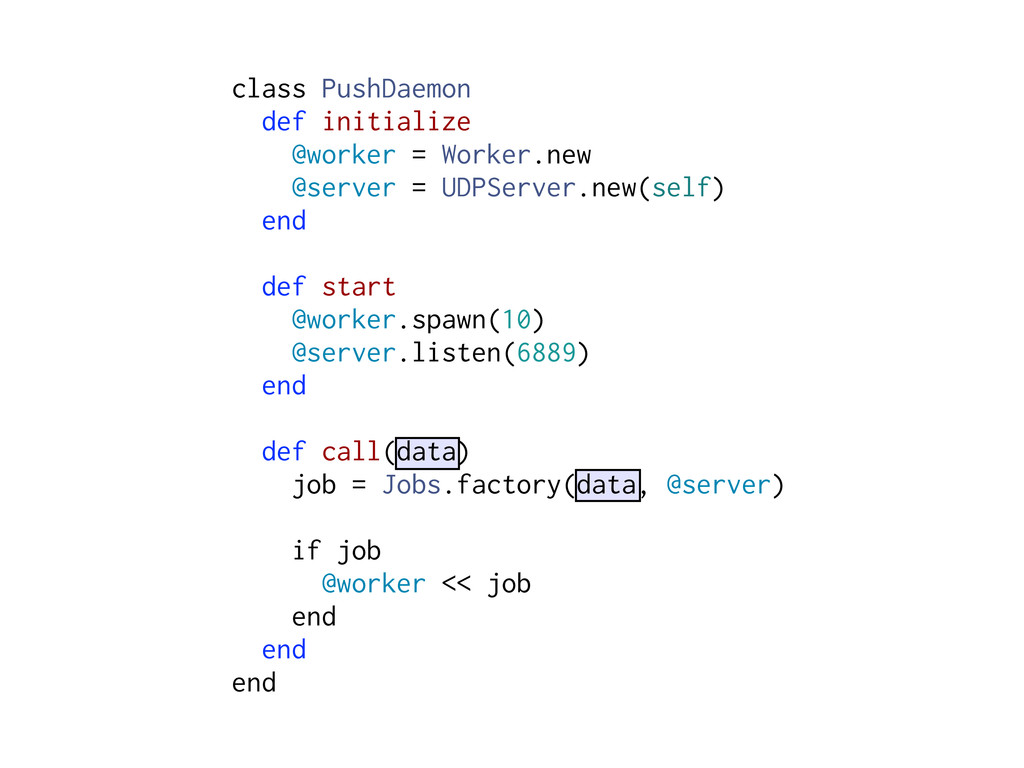 class PushDaemon def initialize @worker = Worke...