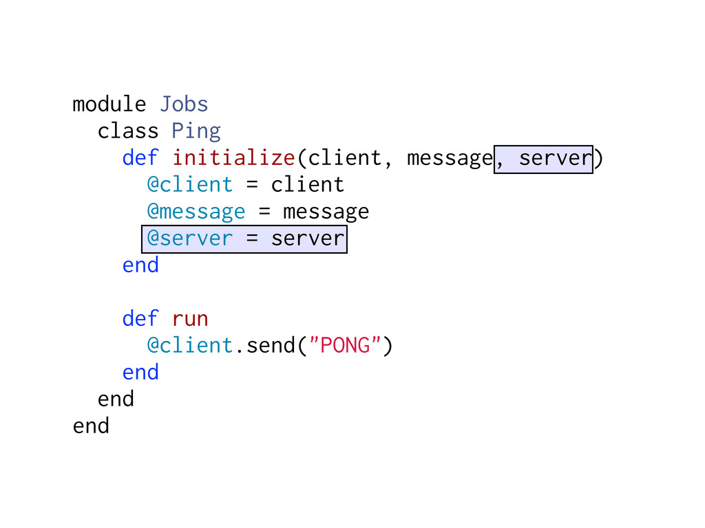 module Jobs class Ping def initialize(client, m...