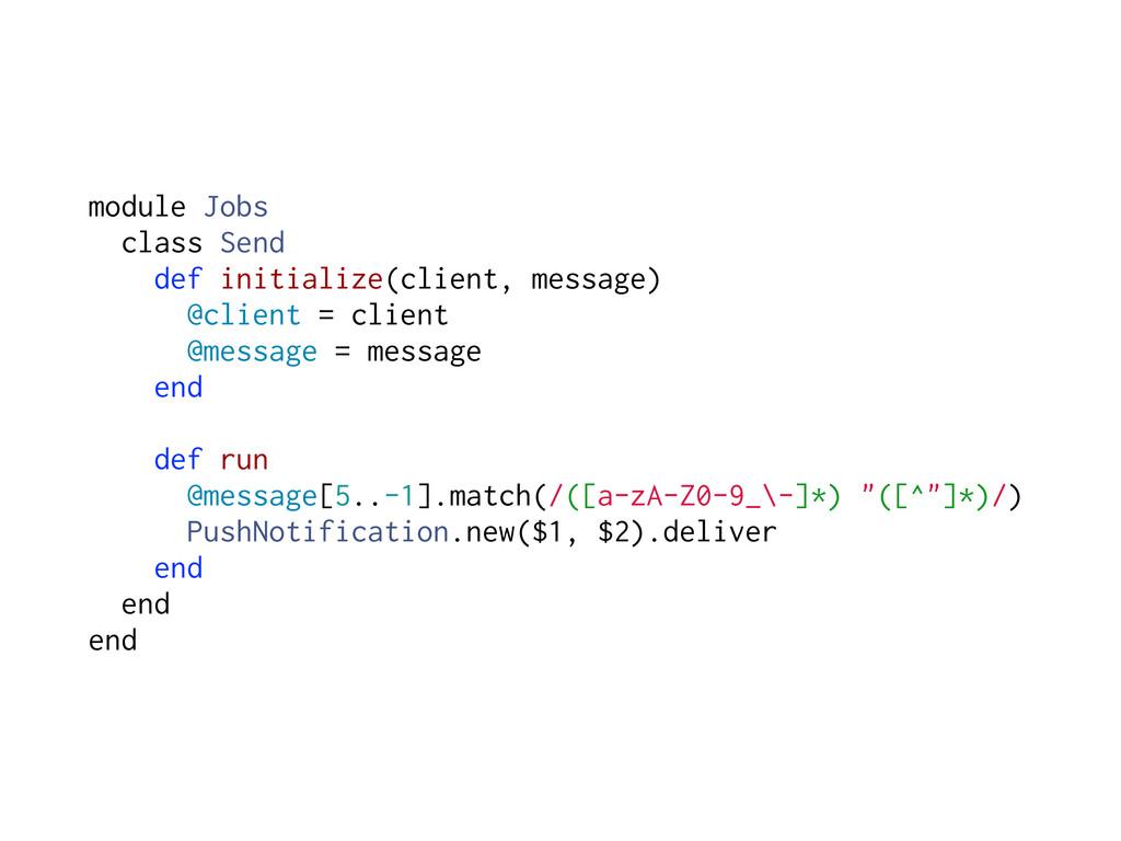 module Jobs class Send def initialize(client, m...