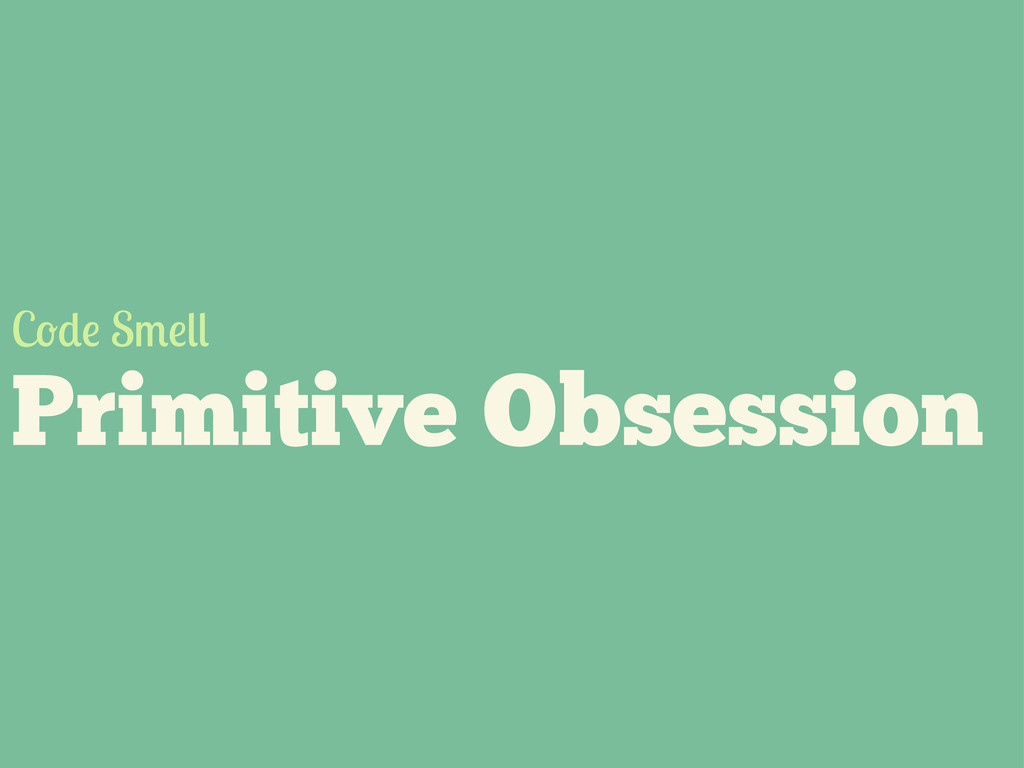 Primitive Obsession C S