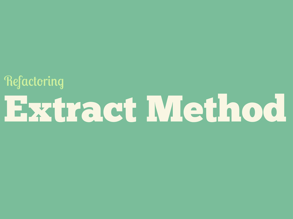 Extract Method R f r