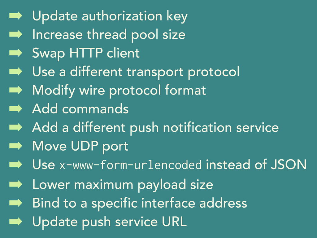 ➡ Update authorization key ➡ Increase thread po...