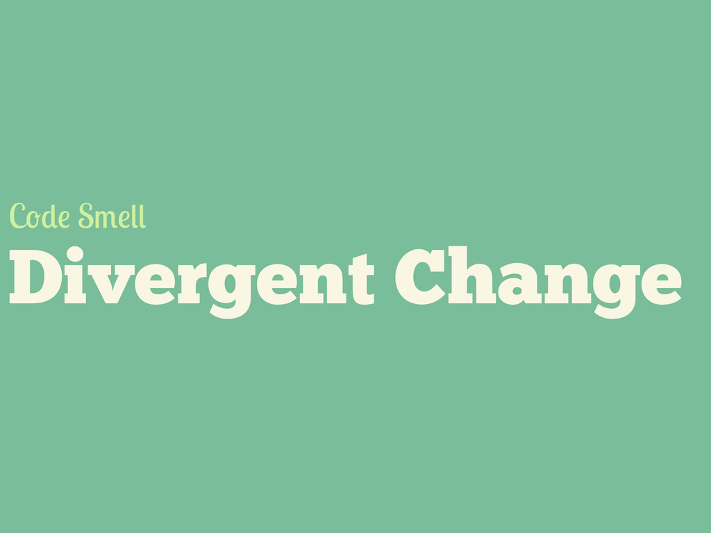 Divergent Change C S