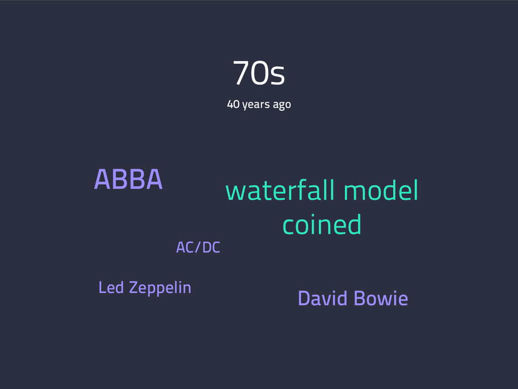70s ABBA waterfall model coined Led Zeppelin Da...