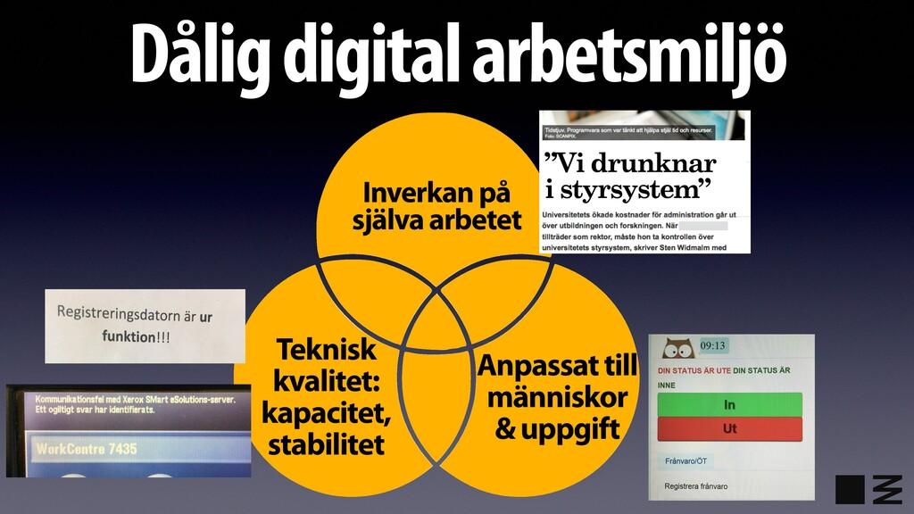 Dålig digital arbetsmiljö Anpassat till människ...
