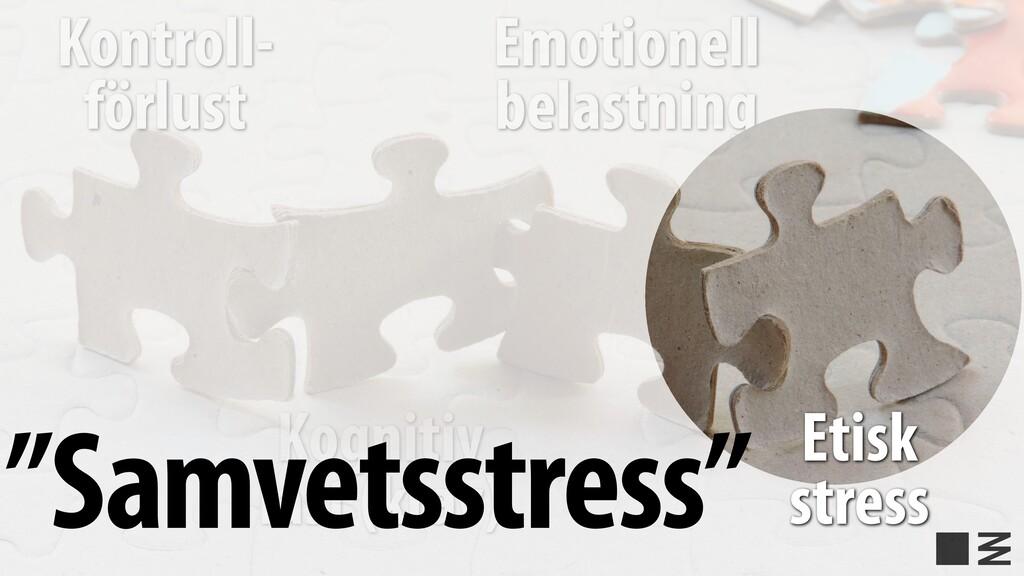 Emotionell belastning Kontroll- förlust Kogniti...