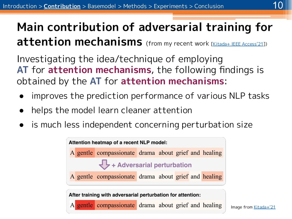 Main contribution of adversarial training for a...