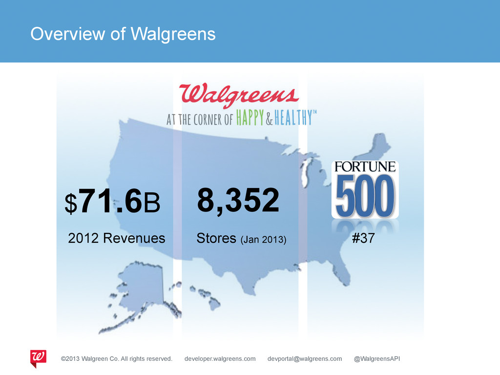 Overview of Walgreens $71.6B 2012 Revenues Stor...