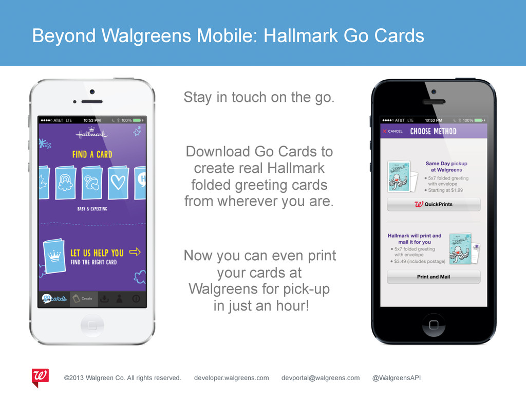 Beyond Walgreens Mobile: Hallmark Go Cards ©201...
