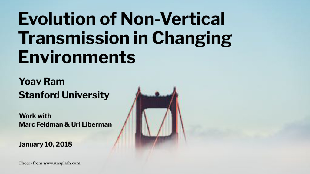 Evolution of Non-Vertical Transmission in Chang...