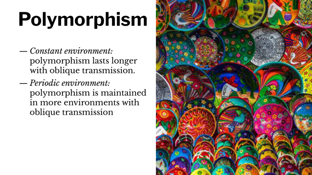 Polymorphism — Constant environment: polymorphi...