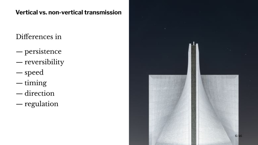 Vertical vs. non-vertical transmission Differenc...